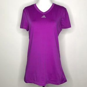 adidas Climalite Purple Short Sleeve Top A090238